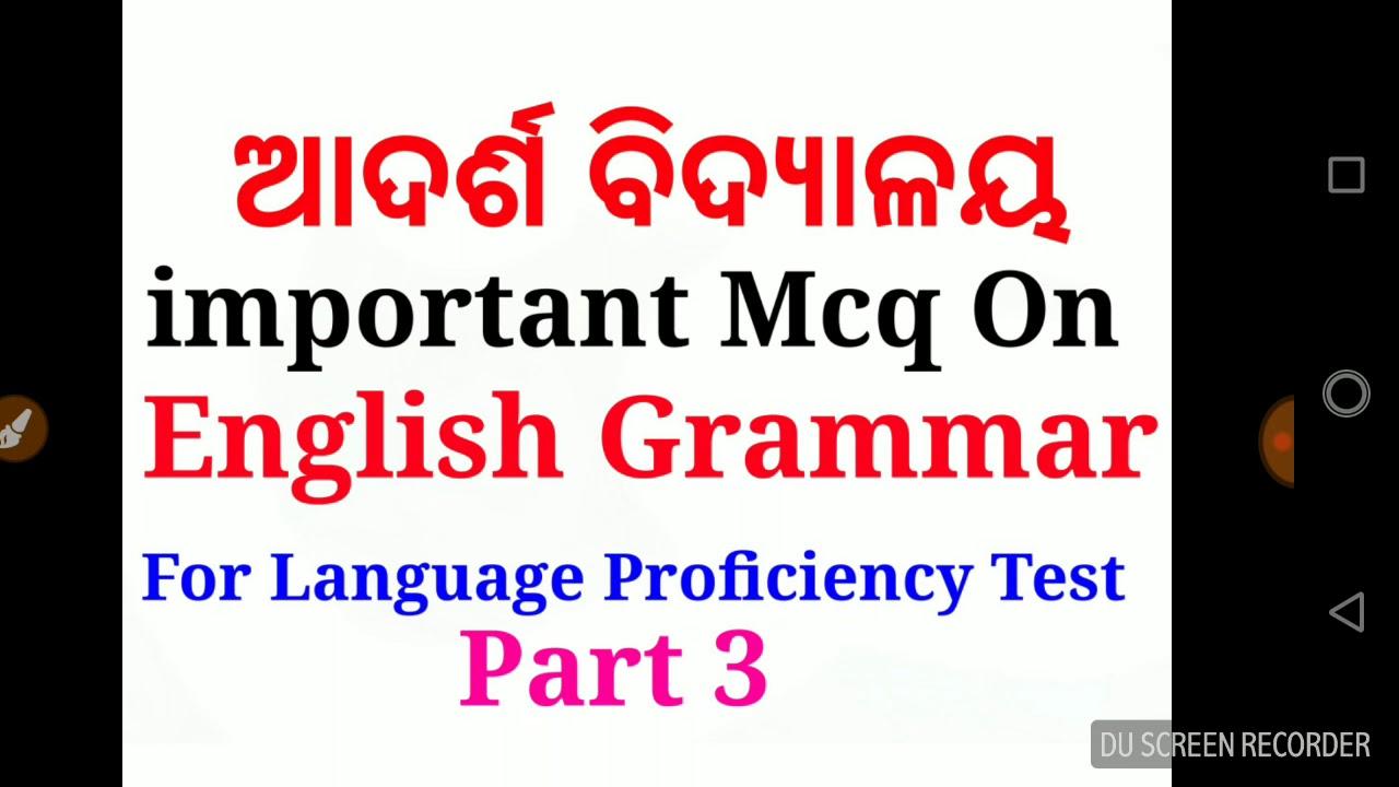 Mcq On English Grammar Part 3 For Language Proficiency Test