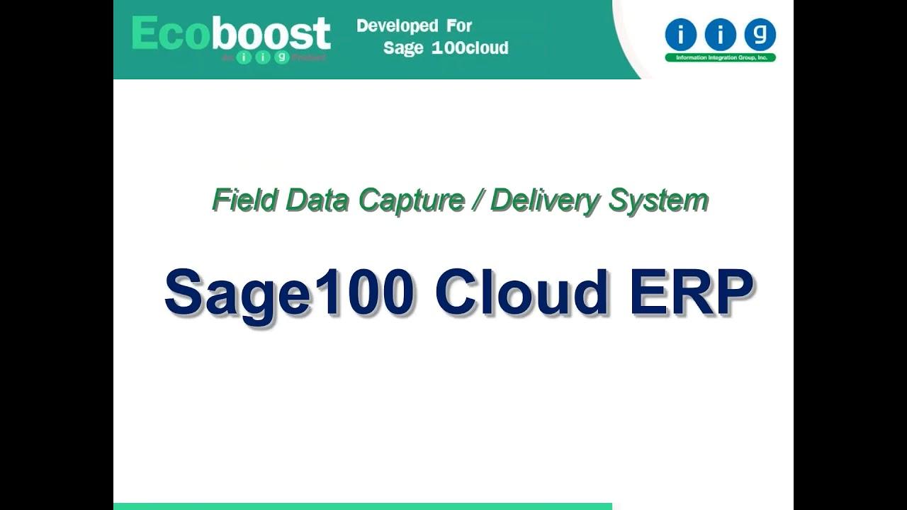 Sage 100 Field Data Capture