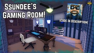 I Built SSundee's Gaming Room! Published with Code! Mega Builds On Fortnite Creative!