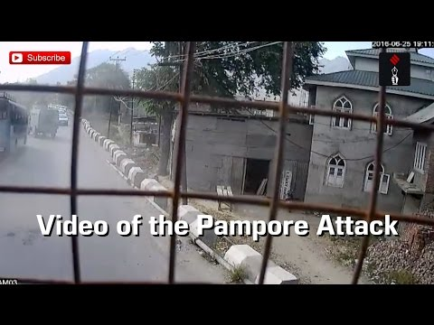 Video Of Pampore Attack Taken From An Army Vehicle