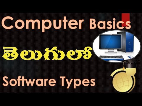 Introduction to Computers and Windows OS in Telugu - Types of Softwares.wmv