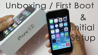 iPhone 5S Unboxing First Boot & Initial Setup(iPhone 5S space gray 16GB Unboxing (officially Indian ver) I also show you how to install the Nano SIM card and we also do the first boot and the initial setup for ..., 2014-03-05T14:56:06.000Z)