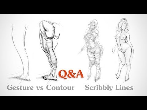 Q&A - Gesture vs Contour and Scribbly Lines