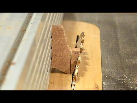 Making drawer pulls on the table saw