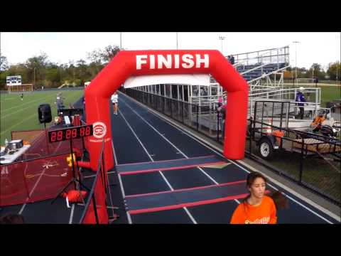 Rutherford PBA Halloween Foot Pursuit 5k timed by Rock Race Timing, LLC.