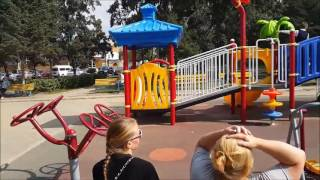 Outdoor playground equipment for disabled kids