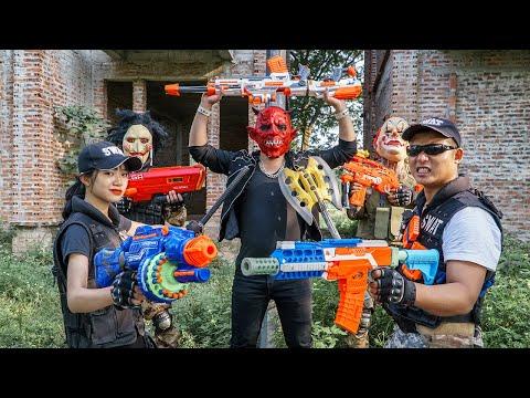 LTT Films : Warriors Black Man Nerf Guns Fight Criminal Group Tiger Mask Red Revenge Lover