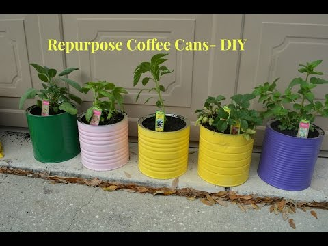 How To Repurpose Coffee Can Tins | DIY Tutorial