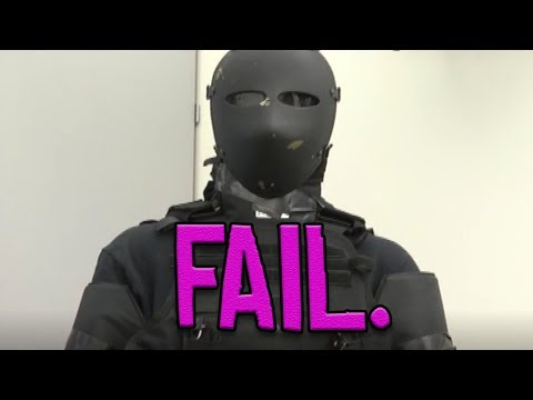 FULLY ARMORED guy VS. Fairbanks Police (and Lt. Gregory Foster)