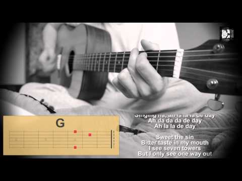 U2 - Running to Stand Still. How to play the song. Cover, chords, lyrics
