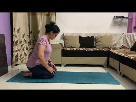Cat Pose Yoga Asana | Marjariasana in Hindi | Yoga Poses ...