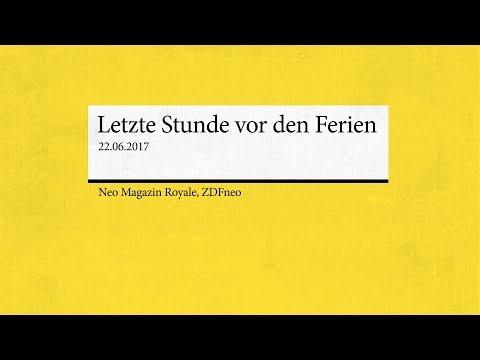 Trailer: Letzte Stunde vor den Ferien | NEO MAGAZIN ROYALE mit Jan Böhmermann - ZDFneo