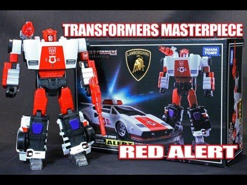 Transformers Masterpiece MP-14 ALERT / RED ALERT Takara Tomy robot figure review