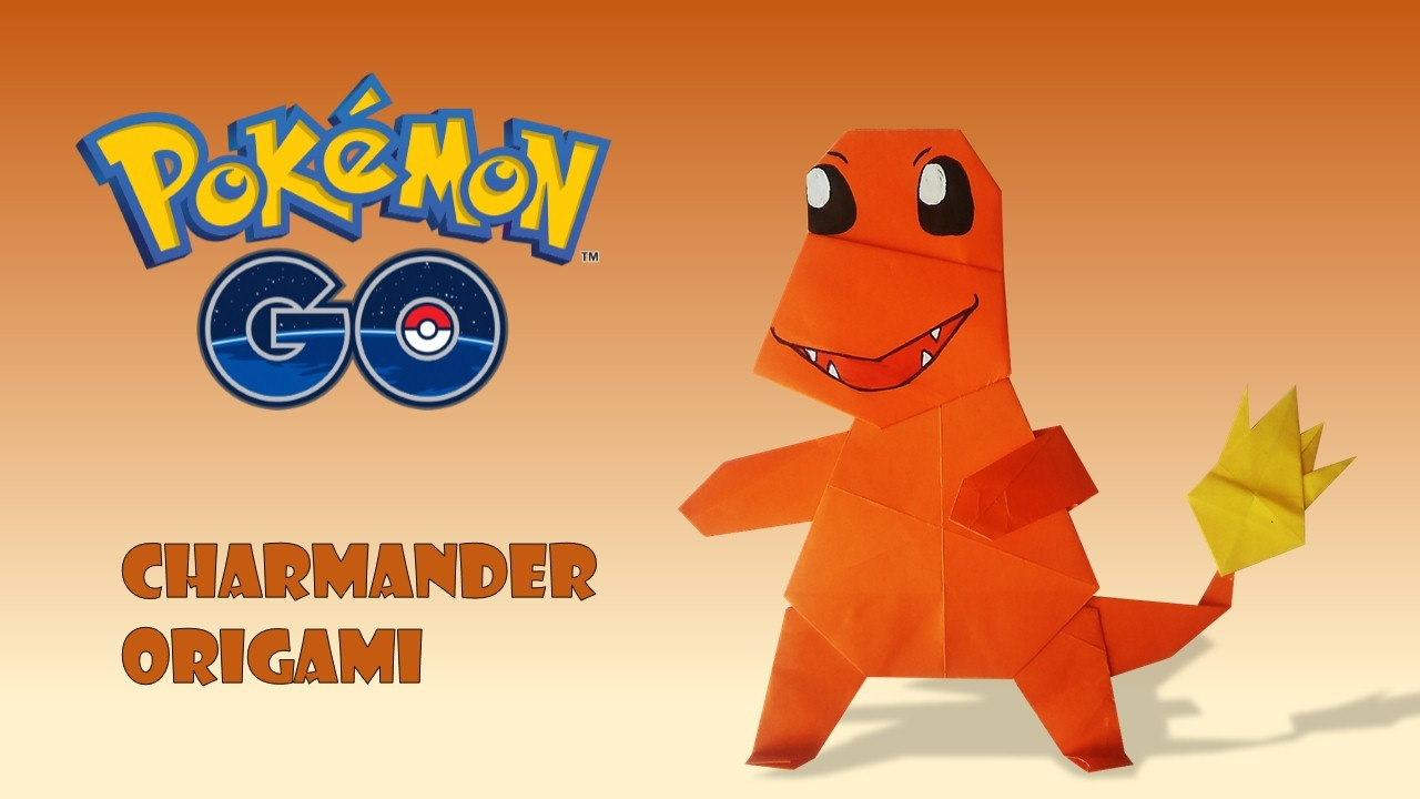 origami pokemon easy charmander tutorial origami handmade
