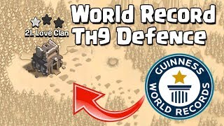 TH9 (Town Hall 9) World Record Defence 2018 | TH9 Mega Troll War Base - Clash of Clans - COC