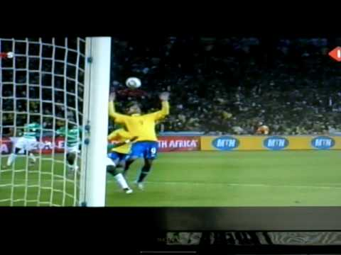 Luis Fabiano scores 2-0 Brazil Ivory Coast 2010