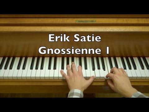 Erik Satie Gnossienne 1 Piano Tutorial (Slow Version)