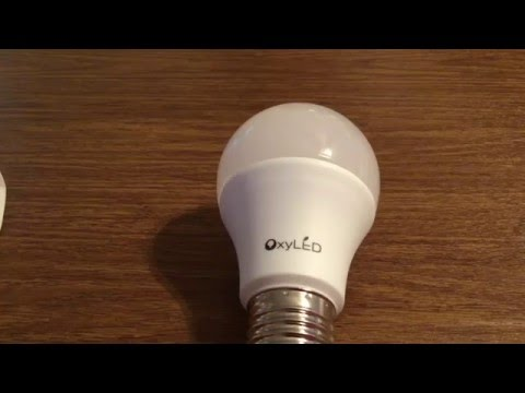 Oxyled Energy Saving 9W Six Pack LED Lightbulb Set Review