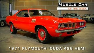 1971 Hemi 'Cuda Video Muscle Car Of The Week #68 V8TV
