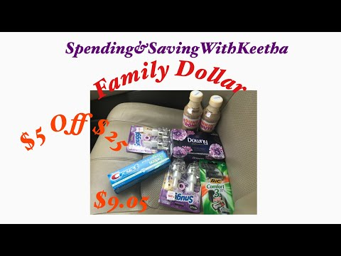 $5 Off $25 At Family Dollar Under $10 Sub/ Digitals Expires Soon