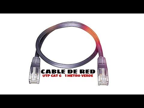 Video de Cable de red UTP CAT6 1 M Verde