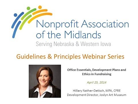 E-Learning | Fundraising | Essentials and Ethics w/ Hillary Nather Detisch