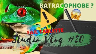 ★STUDIO VLOG #20 | DIY Déco cuisine ❗ BUGS Tablette HUION | Phobie des BATRACIENS !!!