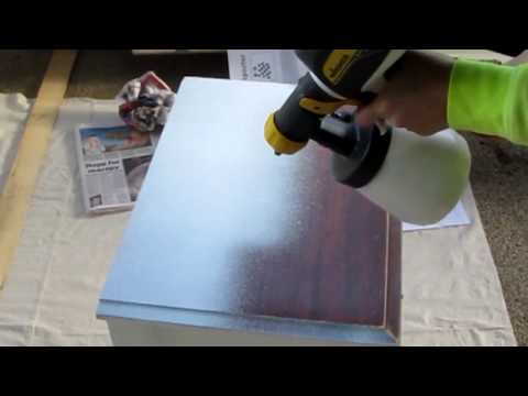 Wagner Paint Sprayer- How to spray paint a bedside table