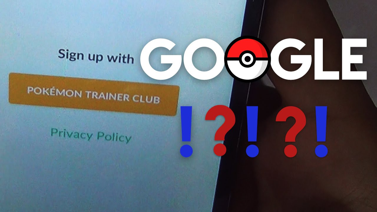 how to get sign in with google account option in pokemon go