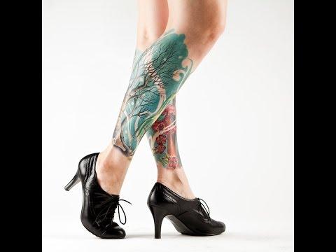 Красивые татуировки на ногах