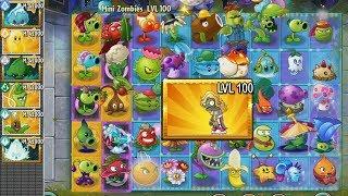 PvZ 2 - Mini Zombi Purpurina NVL 100 vs Todas las Plantas NVL 42000