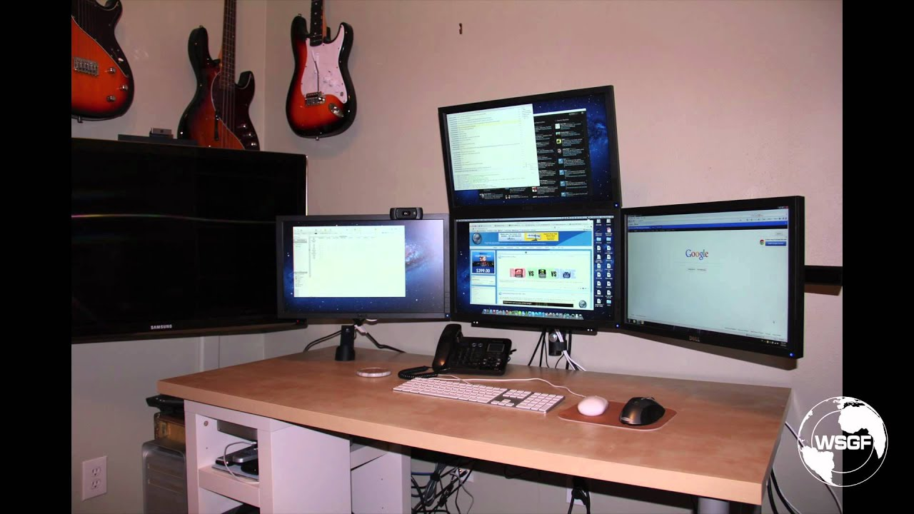 Wall Mounting the WSGF Edition Monitor Stand