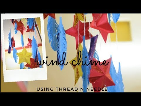 Paper wind chimes | paper craft diy | home decore