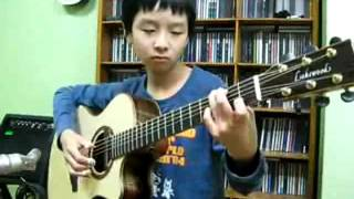 "petikan gitar ""right here waiting"" by sungha jung (deancerta idea)"