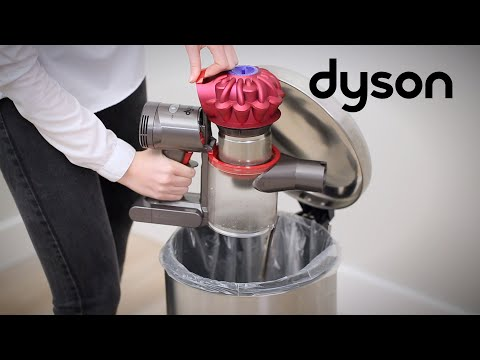 Dyson V7™ cord-free vacuums - Emptying the clear bin (UK)