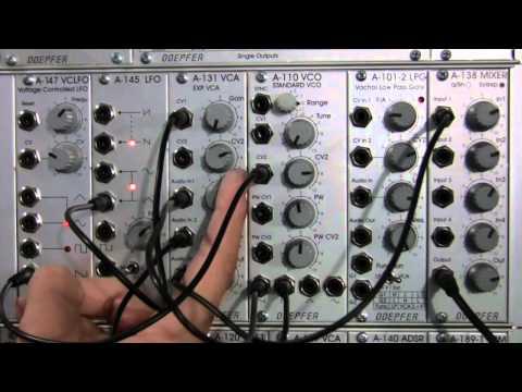 Amplitude Modulation with Doepfer A131 EXP VCA