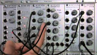 Amplitude Modulation with Doepfer A131 EXP VCA