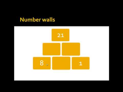 What are and how to solve number walls?