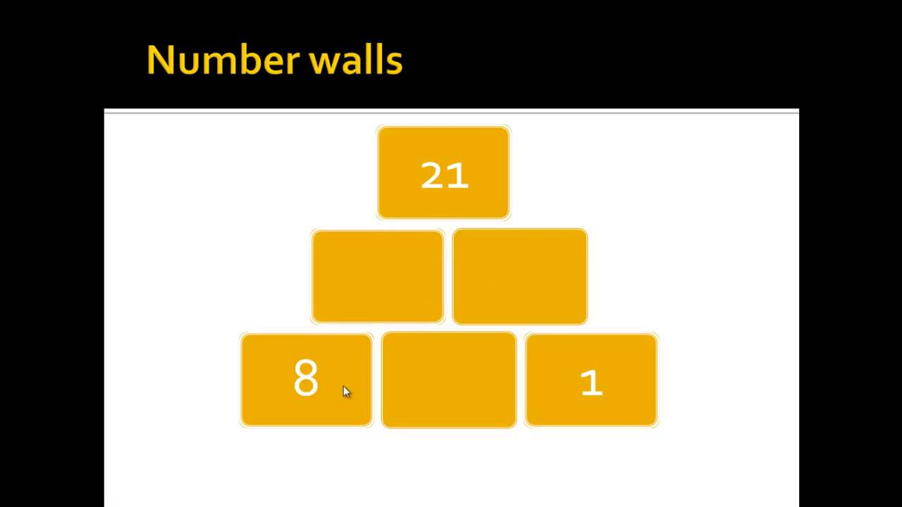 What are and how to solve number walls? - YouTube