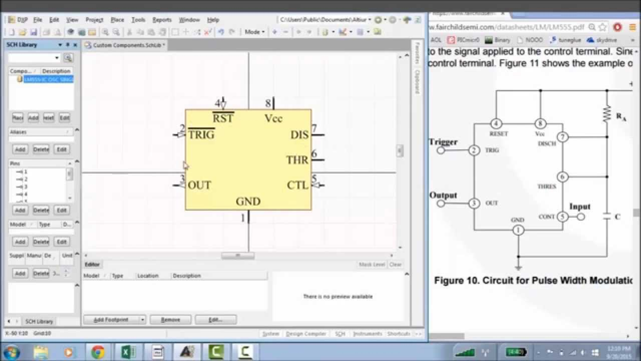 Altium Creating Your Own Custom Component Libraries Tutorial Circuit Drawing Program Photo Schematic Software Youtube