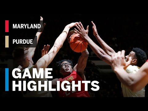 Highlights: Maryland at Purdue | Big Ten Basketball