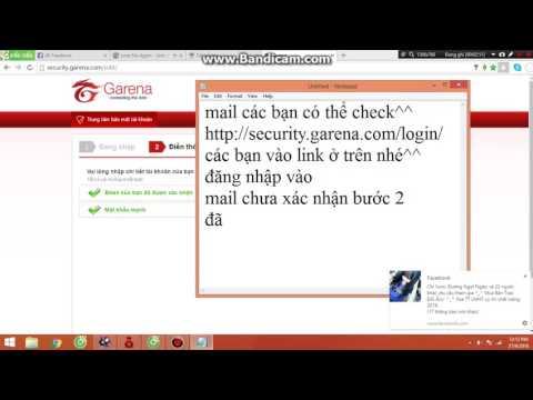 Hướng dẫn xóa email và số điện thoại của garena