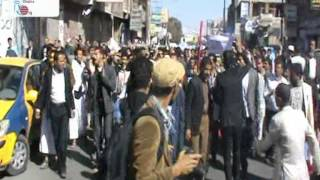 مسيرة حاشده في صنعاء ضد الانقلاب الحوثي