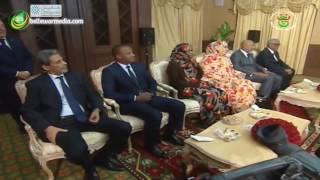 الرئيس الجزائري عبدالعزيز بوتفليقة يستقبل رئيس الوزراء الموريتاني يحي ولد حدمين