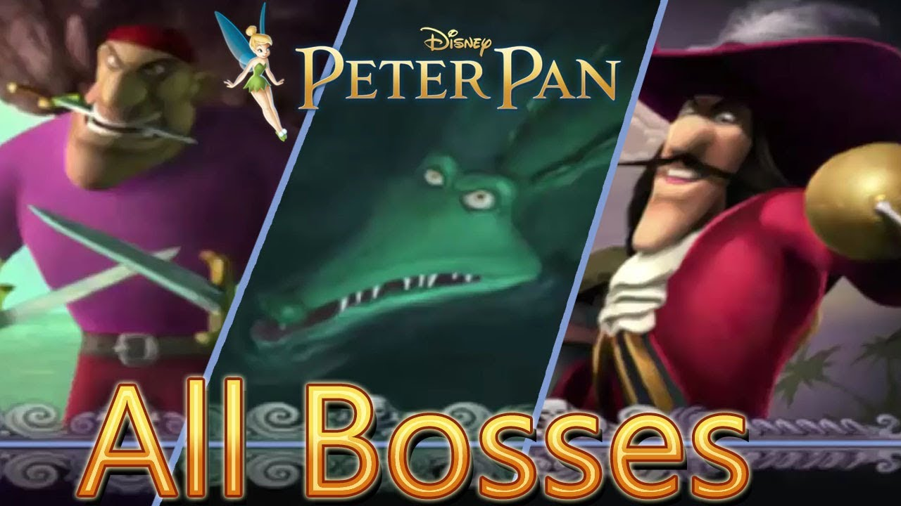 Download Disney's Peter Pan: Return to Neverland All Bosses | Boss Fights  (PS1)