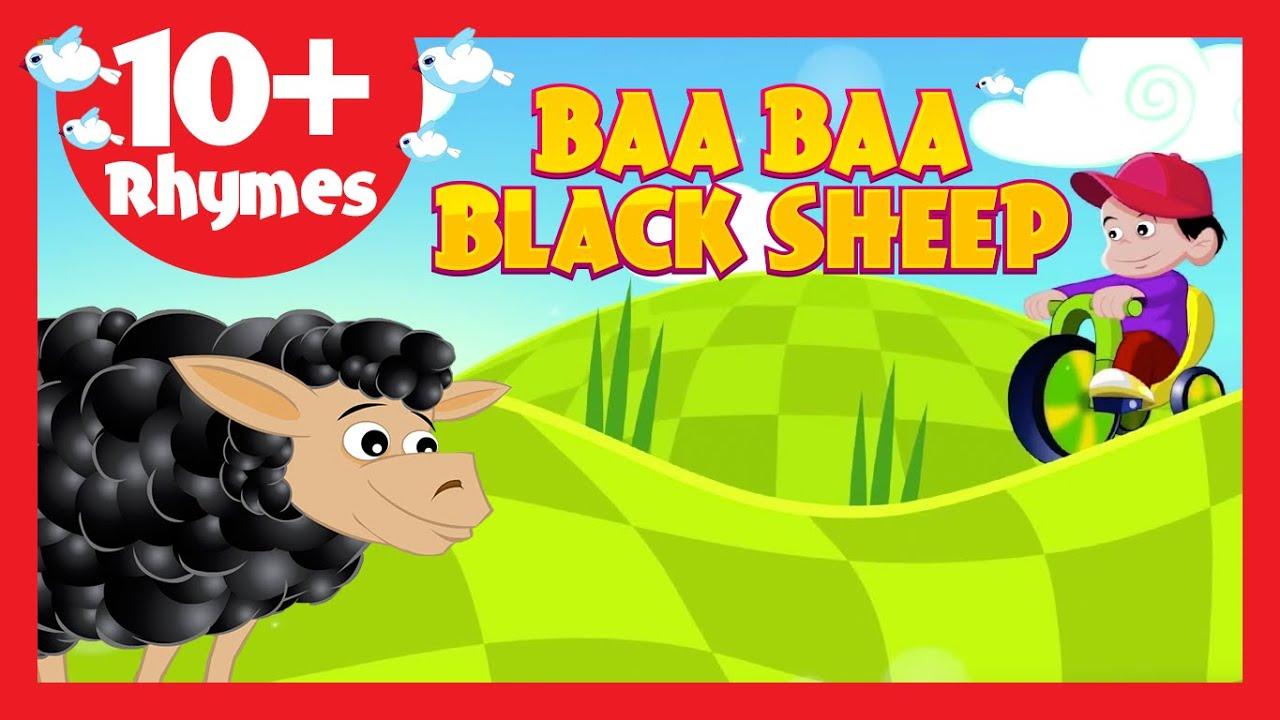 Baa Baa Black Sheep (10+ Rhymes) - Kids Poems In English