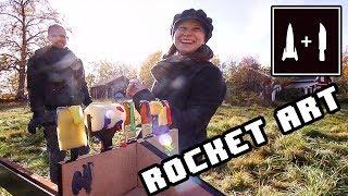Rocket Art Cutting Spray Cans And Smashing Acrylics To Make Ballistic Art