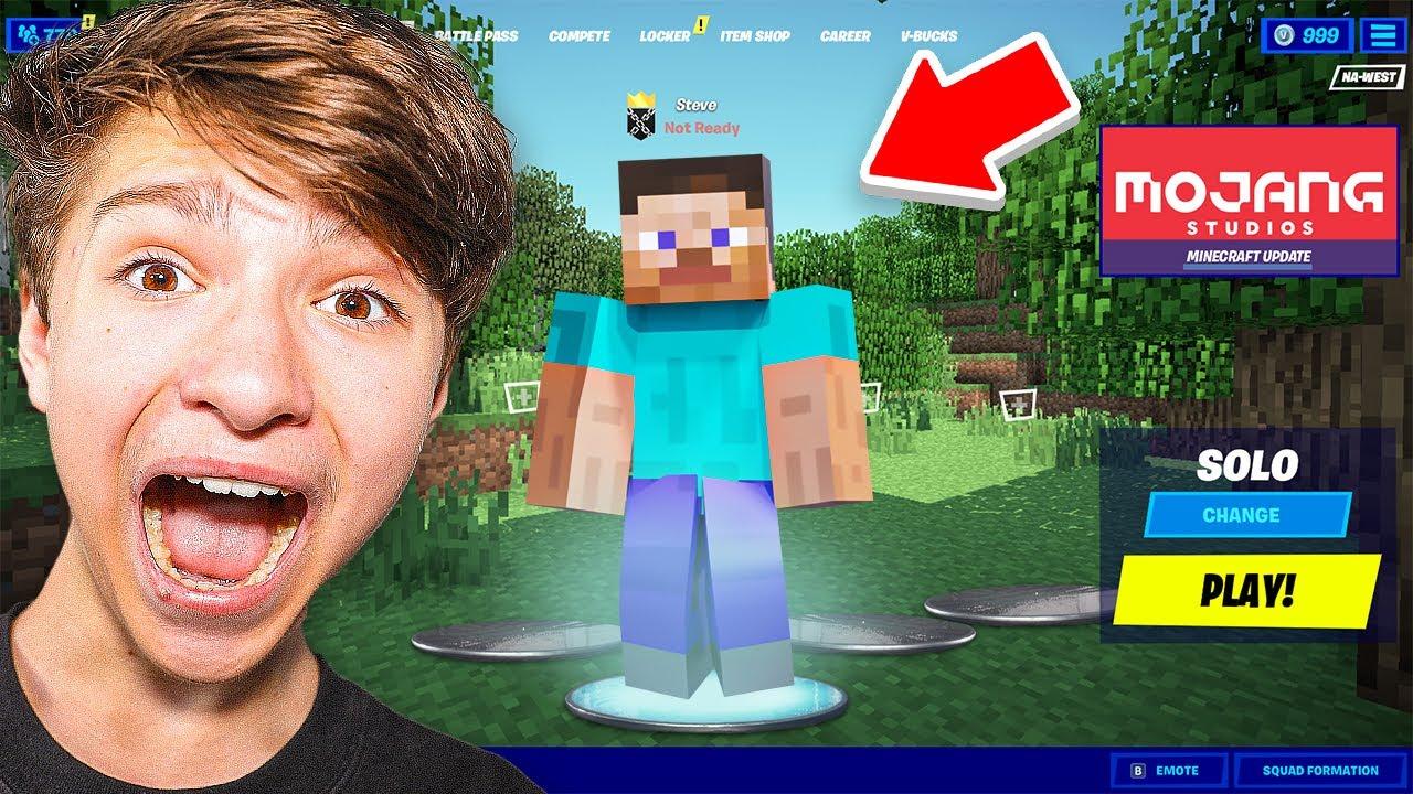 I Trolled H1GHSKY1 With *FAKE* Minecraft Skin In Fortnite!