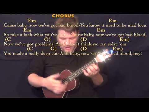 Ukulele ukulele chords flashlight : Bad Blood Remix (Swift/Lamar) Ukulele Cover Lesson with Chords ...