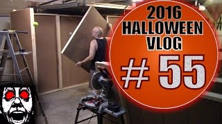 Build A Haunted House Maze #1 | DIY Halloween Vlog 2016 #55: Wall Hacks